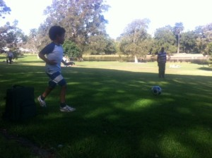 Gourmet catering and a good Time Playing soccer with my son in Sydney